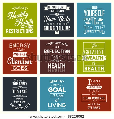 health typography quotes