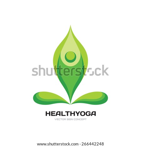 health yoga   vector logo