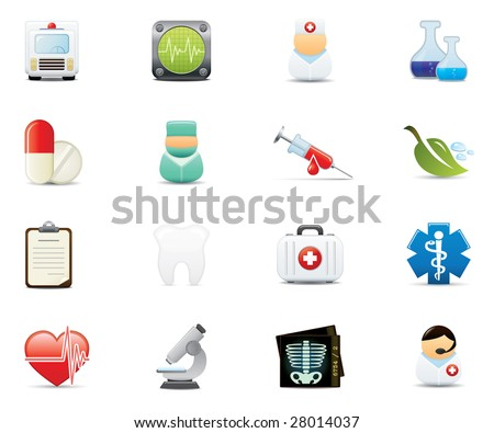 Healthcare and Medical Icon Set. Easy To Edit Vector Image.