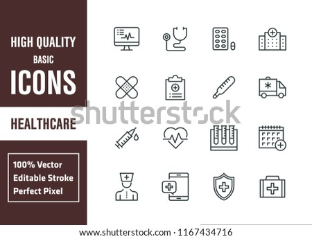 Healthcare And Medicine Basic Icons