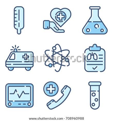 Healthcare Color Icon Set 2