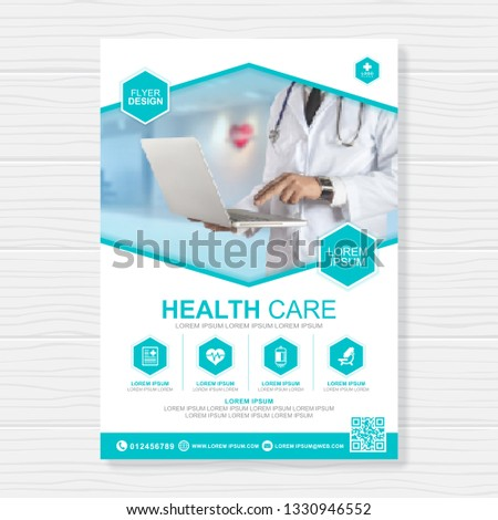 Healthcare cover a4 template design for a report and medical brochure design, flyer, leaflets decoration for printing and presentation vector illustration