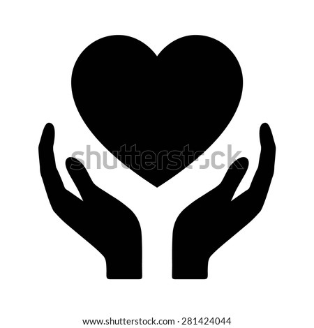 Healthcare Hands Holding Heart Flat Icon For Apps And Website Stock Vector 281424044 ...