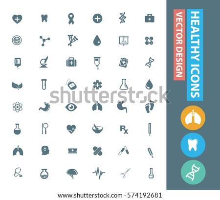 Healthcare icon set,clean vector