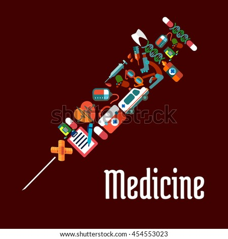 healthcare or medicine icons in