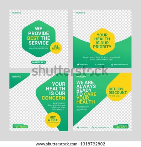 Healthcare post social media template