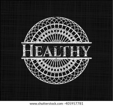 Healthy chalk emblem