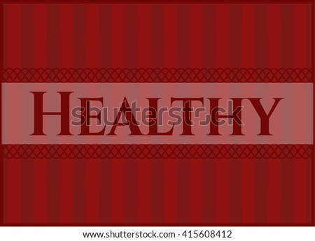Healthy colorful poster