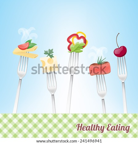 healthy eating concept with
