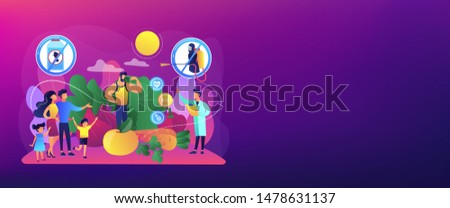 Healthy eating, vegetarian diet, eco veggies. Free from pesticide and herbicide foods, organic farming products, natural agriculture methods concept. Header or footer banner template with copy space.