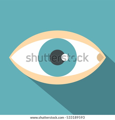 Healthy eye icon. Flat illustration of healthy eye vector icon for web