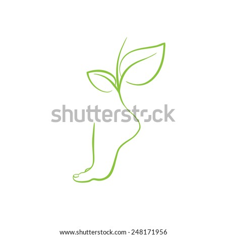 healthy feet vector spa symbol