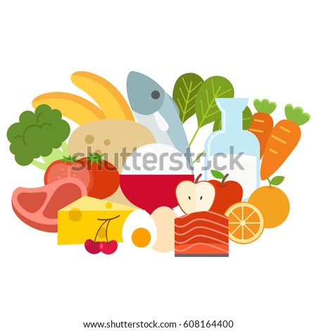 Healthy food concept,vector illustration