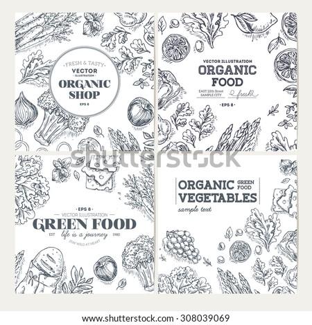 healthy food frames banner