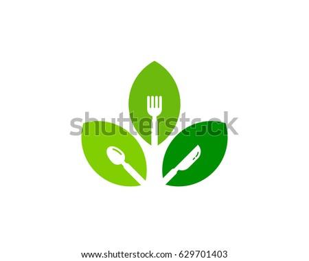 Healthy Food Icon Logo Design Element