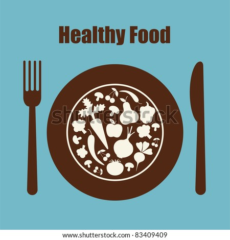 healthy food icon. vector illustration