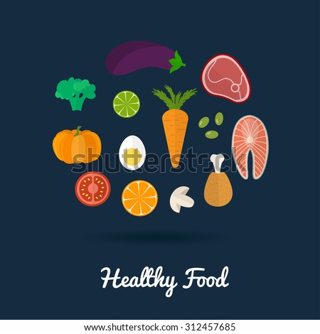 healthy food icons healthy