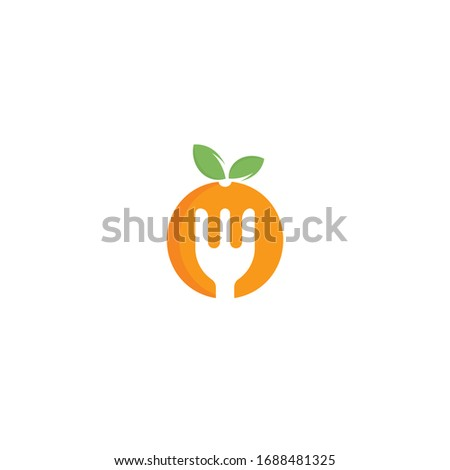 healthy food logo design diet