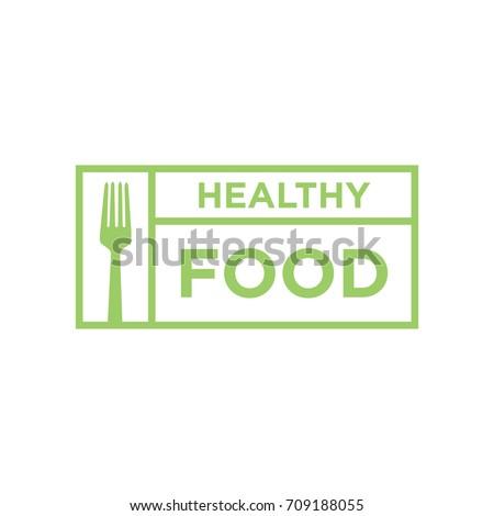 Healthy food vector logo design