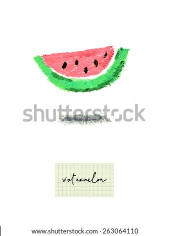 healthy fresh watermelon cute