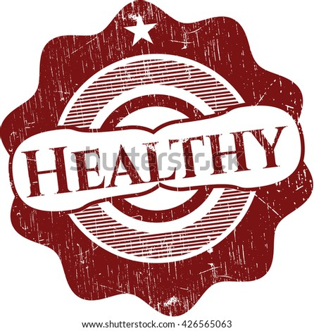 Healthy grunge style stamp