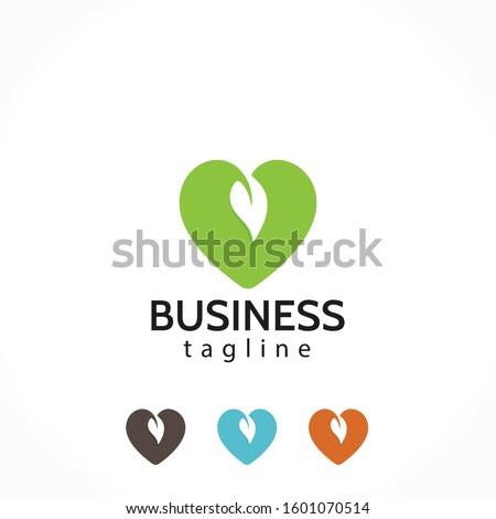healthy heart care leaf logo