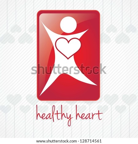 Healthy Heart, Hospital Icons, on grey background