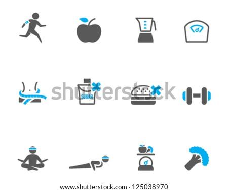 Healthy life icon in duo tone color