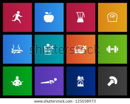 Healthy life icon in Metro style