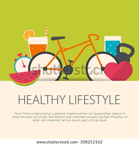 healthy lifestyle concept in