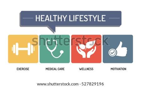 HEALTHY LIFESTYLE - ICON SET