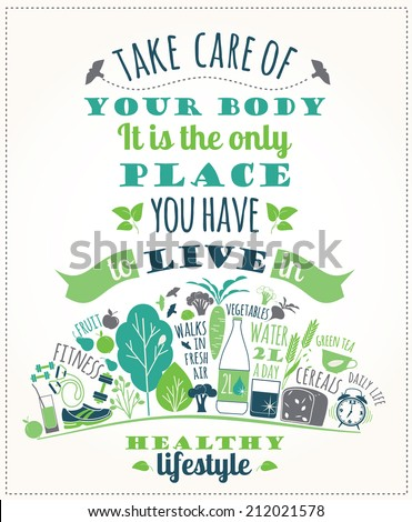 healthy lifestyle poster