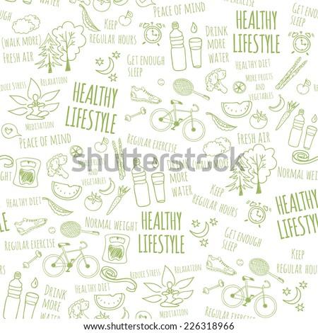 healthy lifestyle seamless