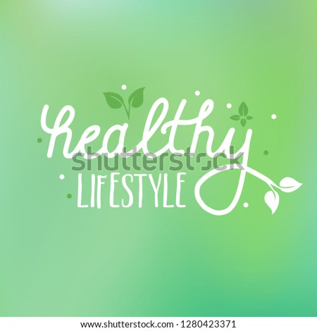 Healthy lifestyle vector background - can illustrate any topics about healthy diet, eating, vegetarian or vegan lifestyle or sustainable agriculture