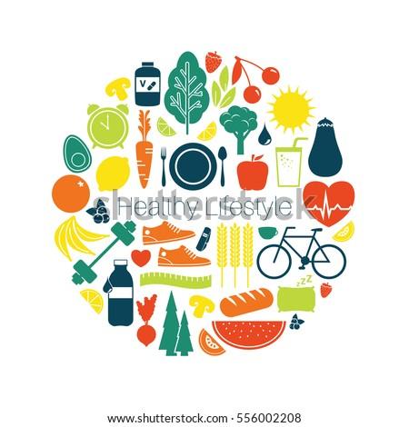 Healthy Lifestyle - Vector Illustration