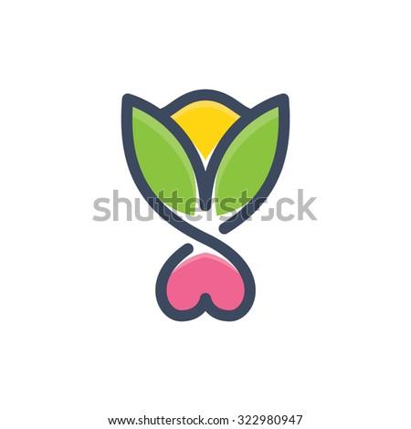 healthy love heart shape flower