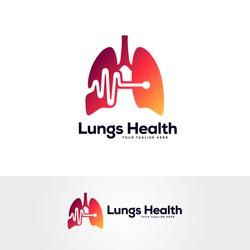 healthy lungs logo designs template, respiratory system logo designs, medical logo template,