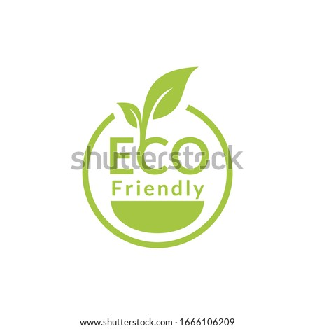 Healthy natural product label logo design Stock photo ©