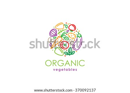 Healthy Organic Eco Vegetarian Food Logo Design Vector Template Ecology Health Eco Organic Logo Fresh From Farm Vegetables Logotype Concept Icon Stock Images Page Everypixel
