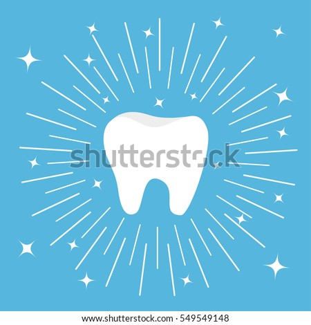 healthy tooth icon round line