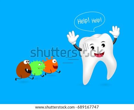 healthy tooth run away from