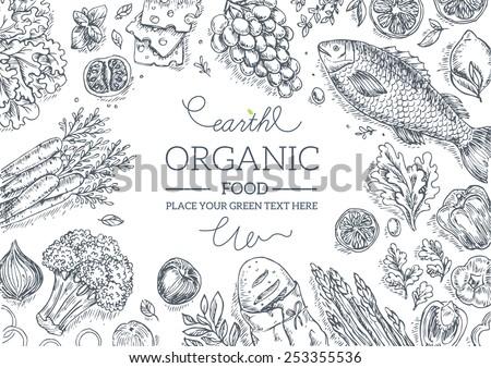 healthy vegetables frame