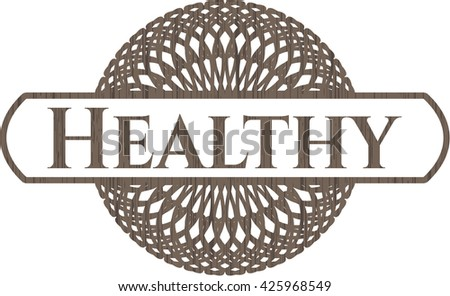 Healthy wood emblem. Retro