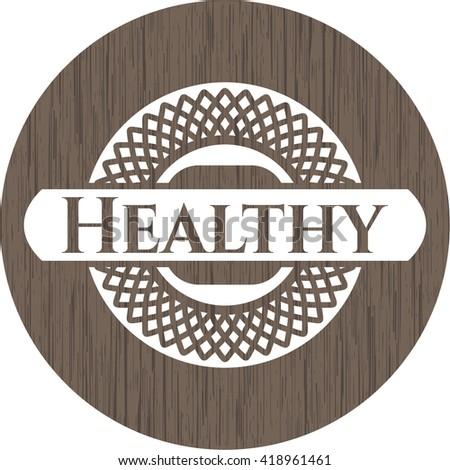 Healthy wood icon or emblem