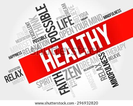 healthy word cloud concept