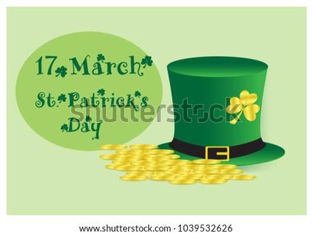 heap of golden coins on green