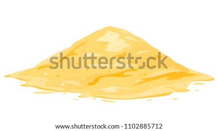 Heap of Sand Isolated