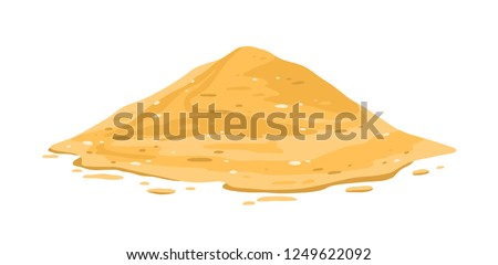 heap of sand isolated on white