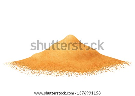 heap of sand vector isolated