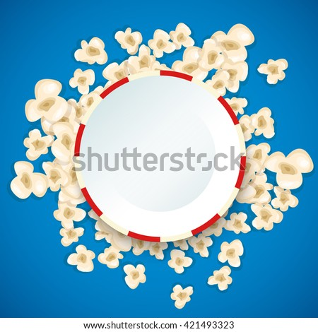 heap popcorn for movie lies on